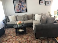 Gray fabric sectional sofa with throw pillows River Grove, 60171