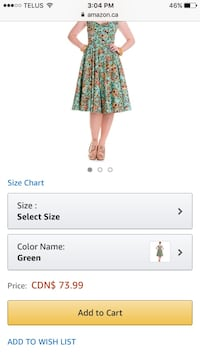women's teal and pink floral dress screenshot Port Hope, L1A 2M2
