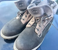 Timberland Men 6 1/2 M Basic Roll Top Grey Gray Nubuck Leather Canvas TB0A11F9 Orange Park, 32073