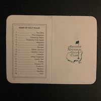 MASTERS—Augusta National Score Card