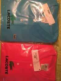 Only one of each - red and blue polo shirts 540 km