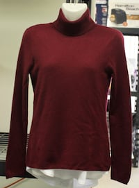 Lusso 100%Cashmere Turtleneck Sweater (New)-Wine Red -S(Reg.Price $134) Pickering