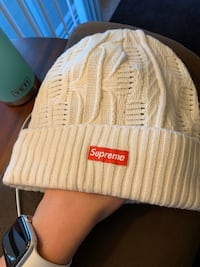 White Knitted Supreme Beanie Ashburn, 20147