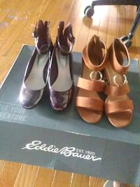 2 inch Venus sandals and two and a half inch Alfani sandals