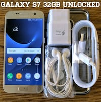 Galaxy S7 GSM UNLOCKED 32GB + Accessorie Arlington