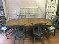 Beautiful restored 6 1/2' dining room/kitchen table & 6 chairs Nokesville, 20181