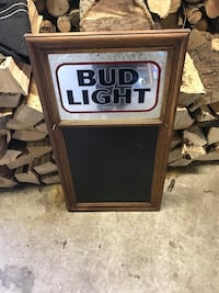 Bud Light Beer Sign Mirror Chalk Board