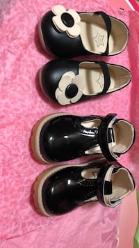 Pair of black leather mary jane shoes Freeport, 11520