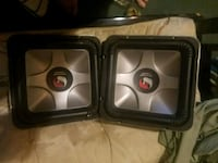 two black and gray subwoofer speakers Arlington, 22204