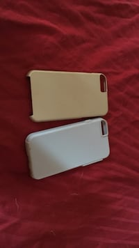 gold and white iPhone case