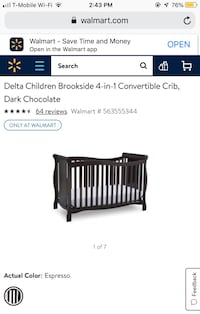 Convertible baby crib Wichita, 67217