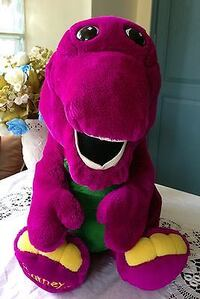 Collectable vintage talking Barney..firm price... Corbyville