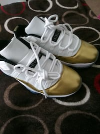 Brand new gold and white air jordans size 7 Portsmouth, 23702