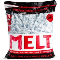Snow Joe MELT Calcium Chloride Pellets Ice Melter (50 lb. Resealable Bag)