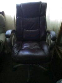 black leather office rolling chair Ellicott City, 21043