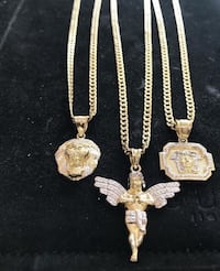 10k yellow gold chains and pendents