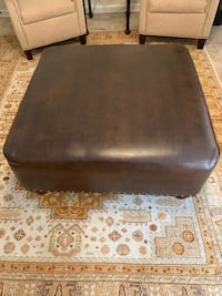 Large Leather Ottomon Metairie