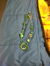 green and white beaded necklace Grand Prairie, 75052