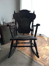 brown wooden rocking chair Vancouver, V6J