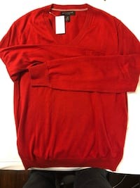 Banana Republic Red V-Neck sweater. Medium  Brand new. Luxury blend Arlington, 22202