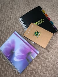School/office supplies. Pencils notebooks sticky notes