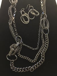 Premier Designs Urbanite Necklace & Earrings 26 mi