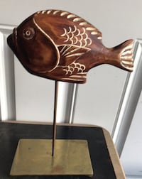 Vintage Sarreid Painted Hand Carved Wood Fish Hagerstown, 21742