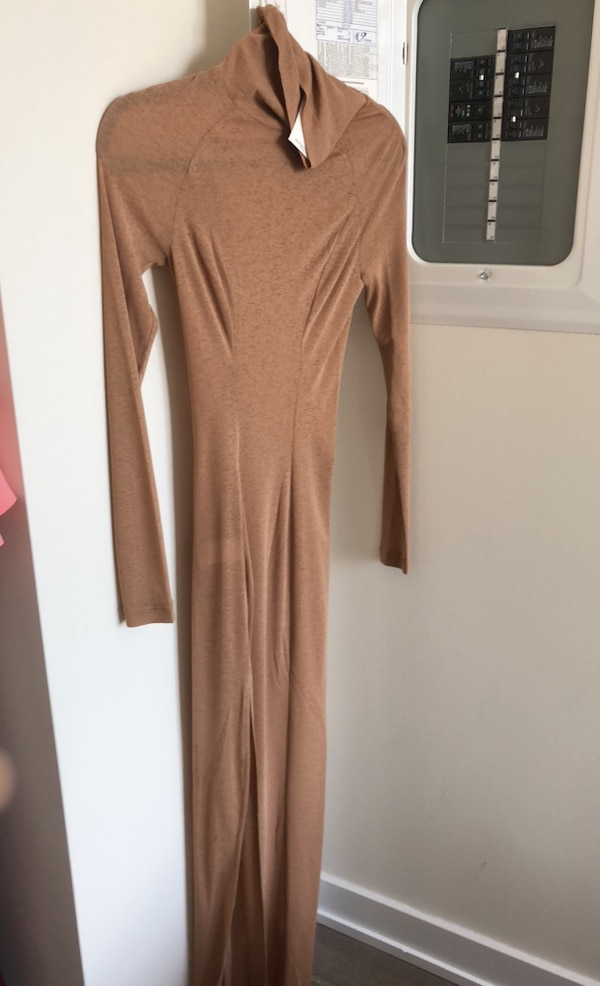 Mistress Rocks Nude Side Split Maxi Dress: Size XS ae71842d-78af-423c-bc98-787574761a96