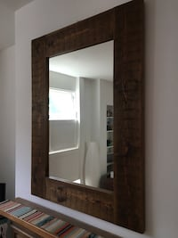 brown wooden frame wall mirror London, NW1 8PH