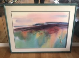Large Abstract Watercolor Wall Painting