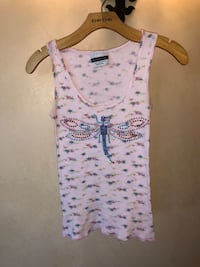 Pink floral butterfly tank top size small by Michelle Roy Scottsdale, 85255