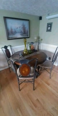 black and brown wooden dining set Falls Church, 22043