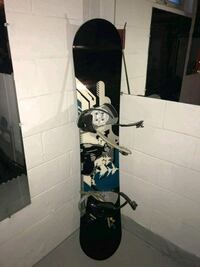 black and white snowboard with bindings Duluth, 55811