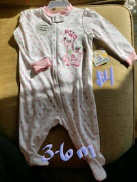 baby's white and pink footie pajama Clear Brook, 22624