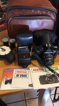 Vintage Pentax Mv Camera and accessories