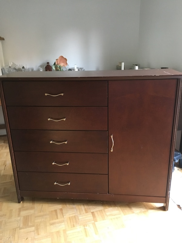 Dresser, chest, mirror, 2 nightstands
