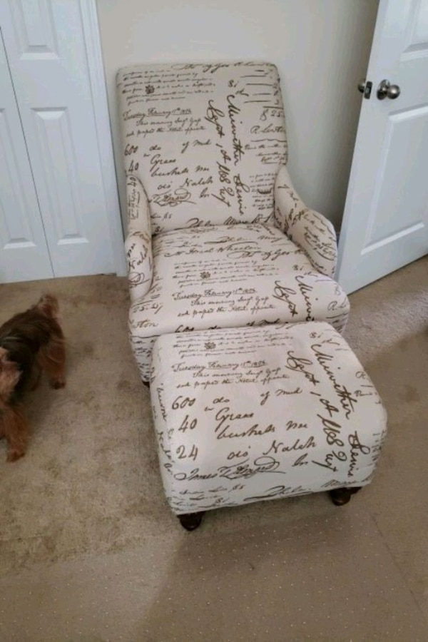 Used Price Cut Chair And Ottoman Almost New For Sale In