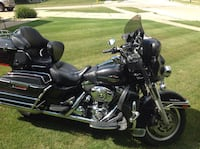 Black and gray touring motorcycle Pewaukee, 53072