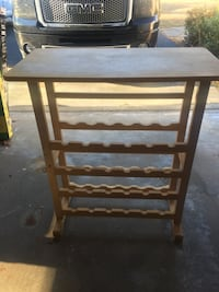Wooden wine rack/table