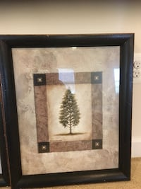 Two painting with black frame
