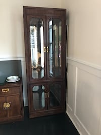 brown wooden framed glass display cabinet Greenwich, 06831