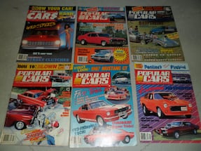 LOT OF 6 VINTAGE POPULAR CARS MAGAZINES BACK ISSUE