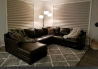 HOM Furniture Leather Sectional