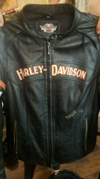 Harley leather with inside hoody