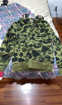 Dark green bape shark Full zip (Windstopper edition)