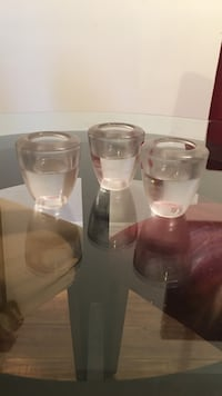 three clear glass candle holders Taneytown, 21787