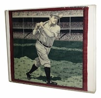 BABE RUTH NEEDLEPOINT FRAMED COLLECTIBLE SPORTS ME