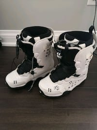 bindings, snowboard and boots( size 10)