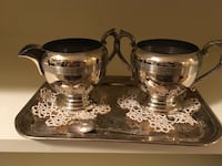 Silver plate cream and sugar set Toronto, M5M 1N5