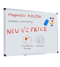 Magnetic Dry Erase 48x36, Aluminum, Wall-Mount, Tray+ NEW 1/2 PRICE